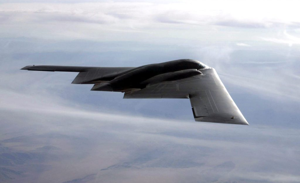 B-2 Bomber Flies Over the Pacific Just Ahead Trump's Visit