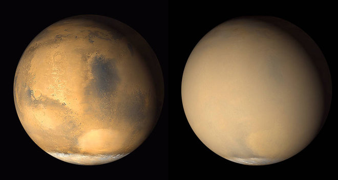 Mars Dust Storms Linked to Atmosphere Loss
