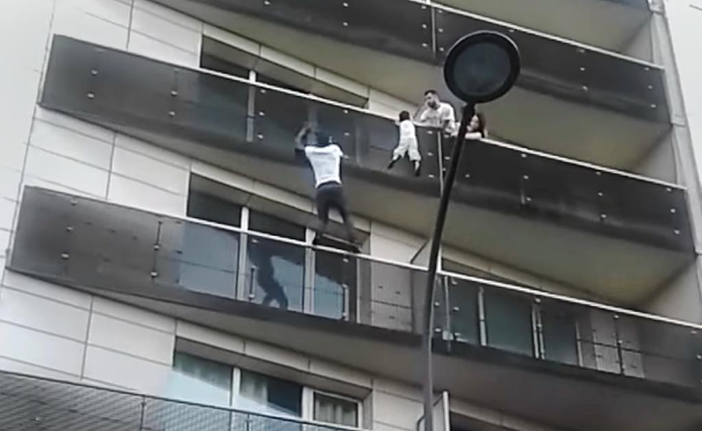 """Balcony boy's family thank Mamoudou Gassama, the Malian """"Spiderman"""""""