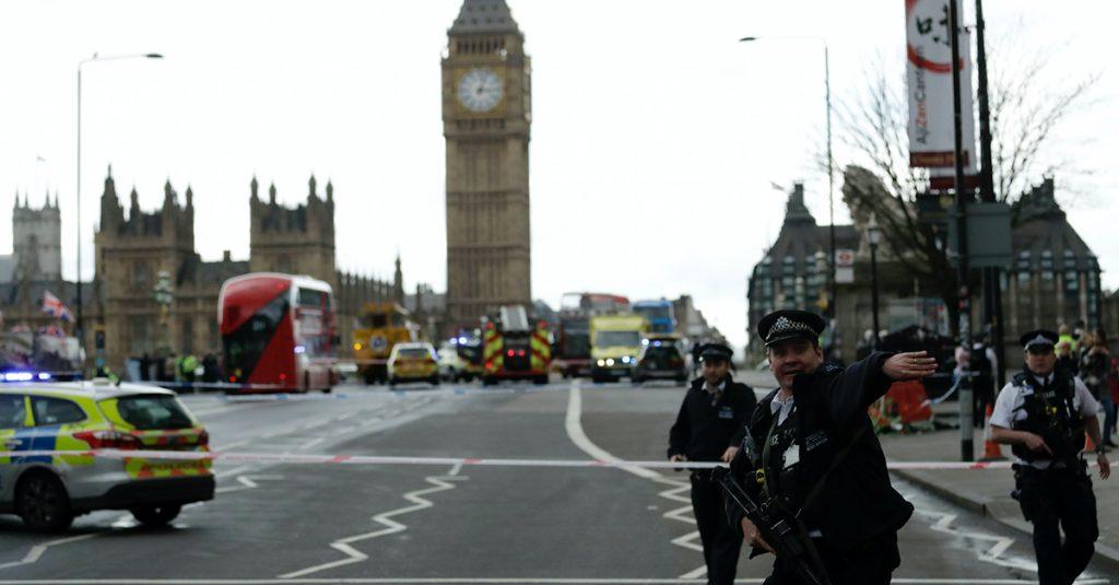 Speeding Car Injures Pedestrians Outside U.K. Parliament