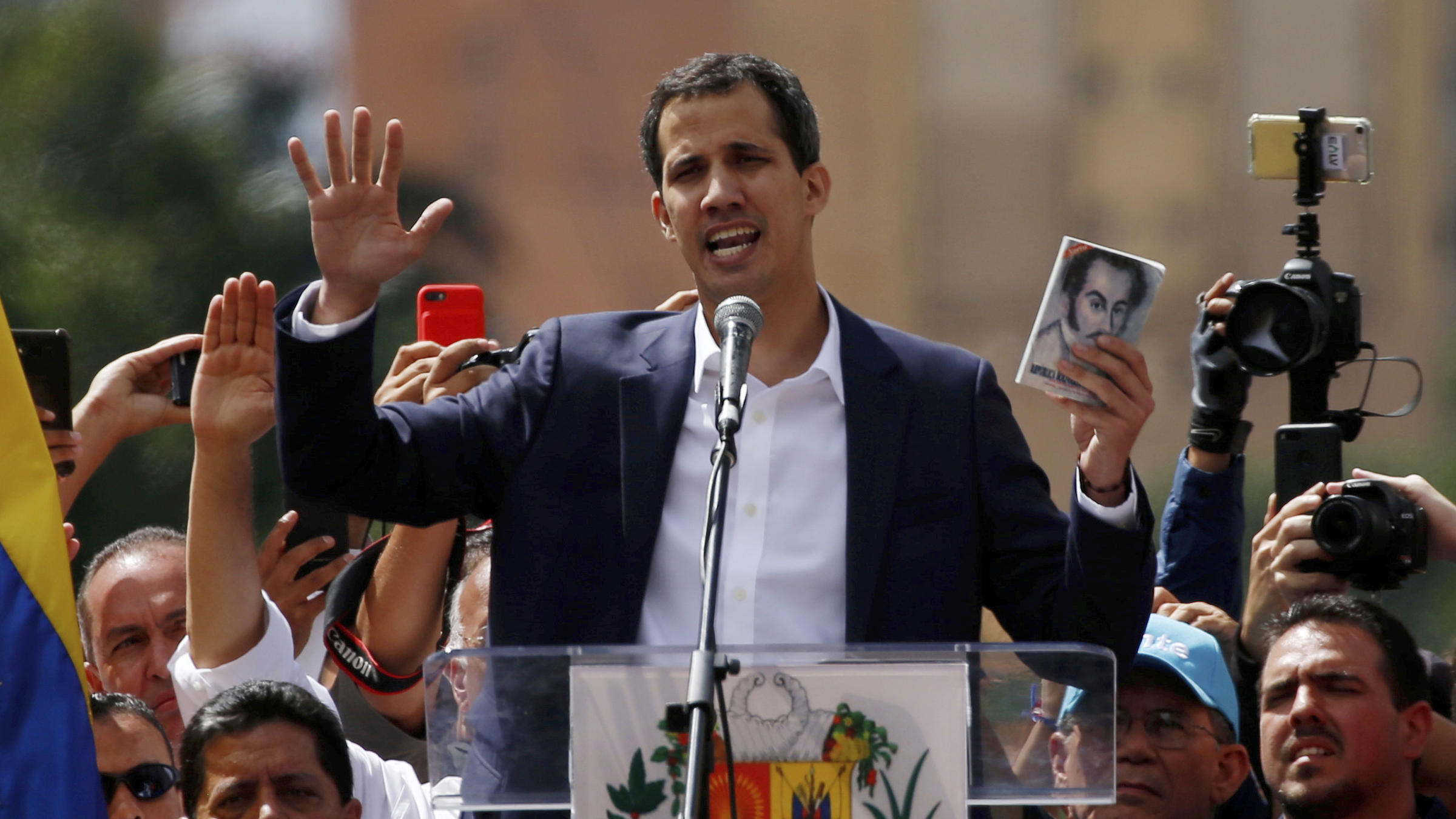 Juan Guaidó declared himself Venezuela's interim president