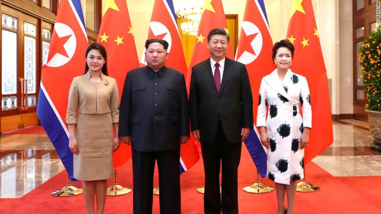 North Korea's Leader Kim Jong-un Visits China's President