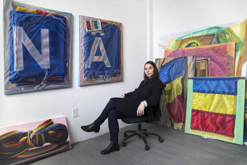 How Artist Ioana Manolache Transforms Mass-Produced Romanian Flags Into Inspired Works of Art